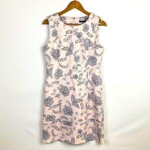 TOMMY HILFIGER Sleeveless Sheath Dress Pink Floral